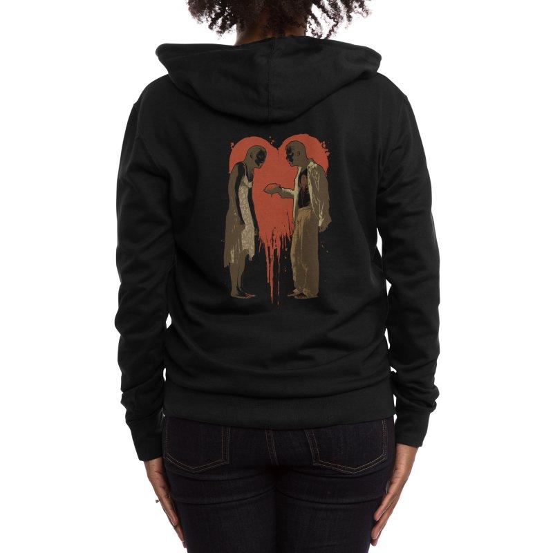 Zombie Romance Women's Zip-Up Hoody by Threadless Artist Shop