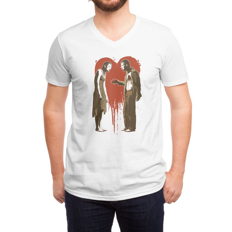 Zombie Romance Men's V-Neck by Threadless Artist Shop
