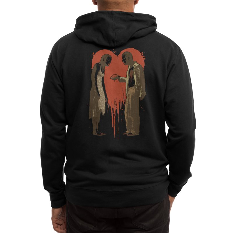 Zombie Romance Men's Zip-Up Hoody by Threadless Artist Shop