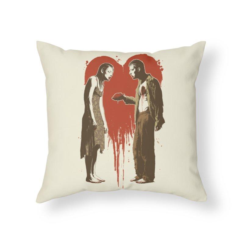 Zombie Romance Home Throw Pillow by Threadless Artist Shop