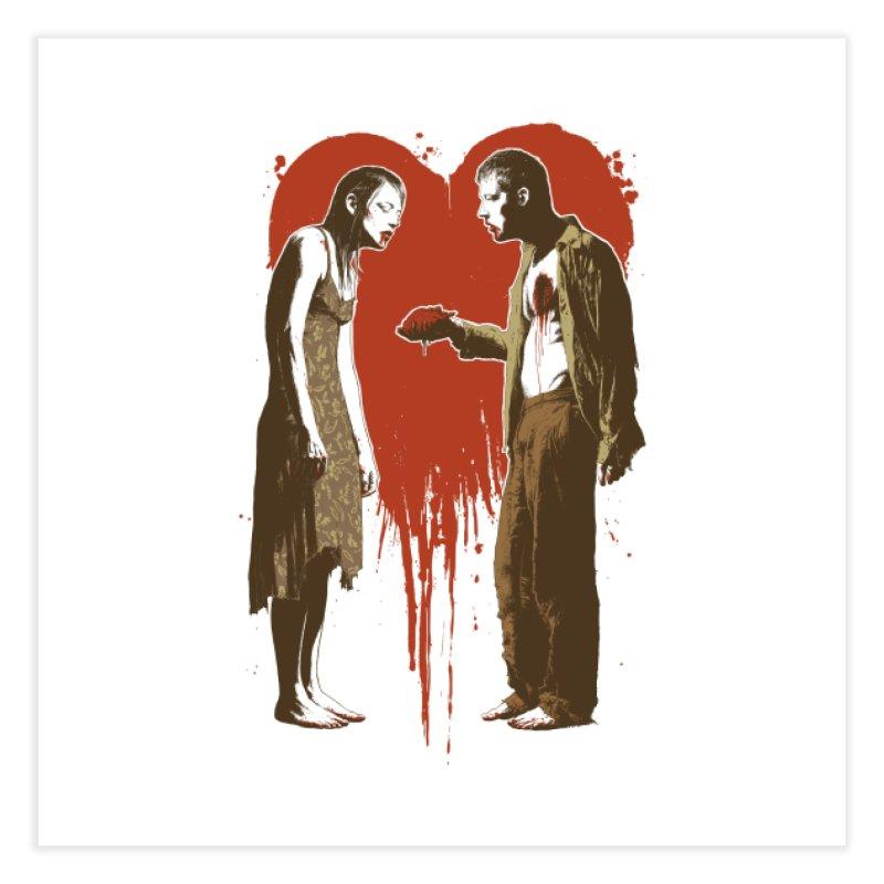 Zombie Romance Home Fine Art Print by Threadless Artist Shop
