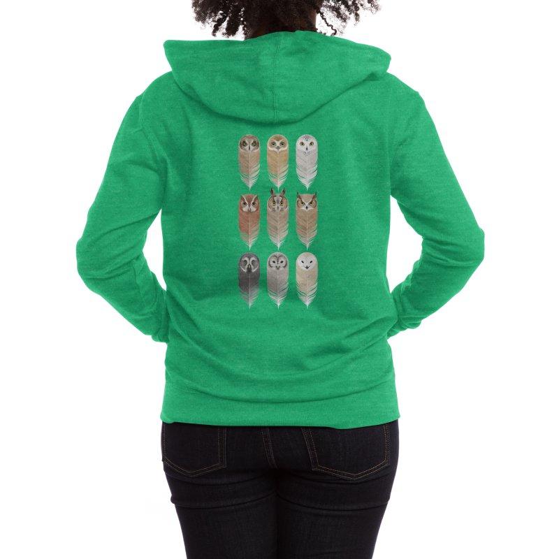 You're a Hoot Women's Zip-Up Hoody by Threadless Artist Shop
