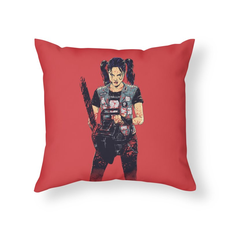 Zombie Slayer Home Throw Pillow by Threadless Artist Shop