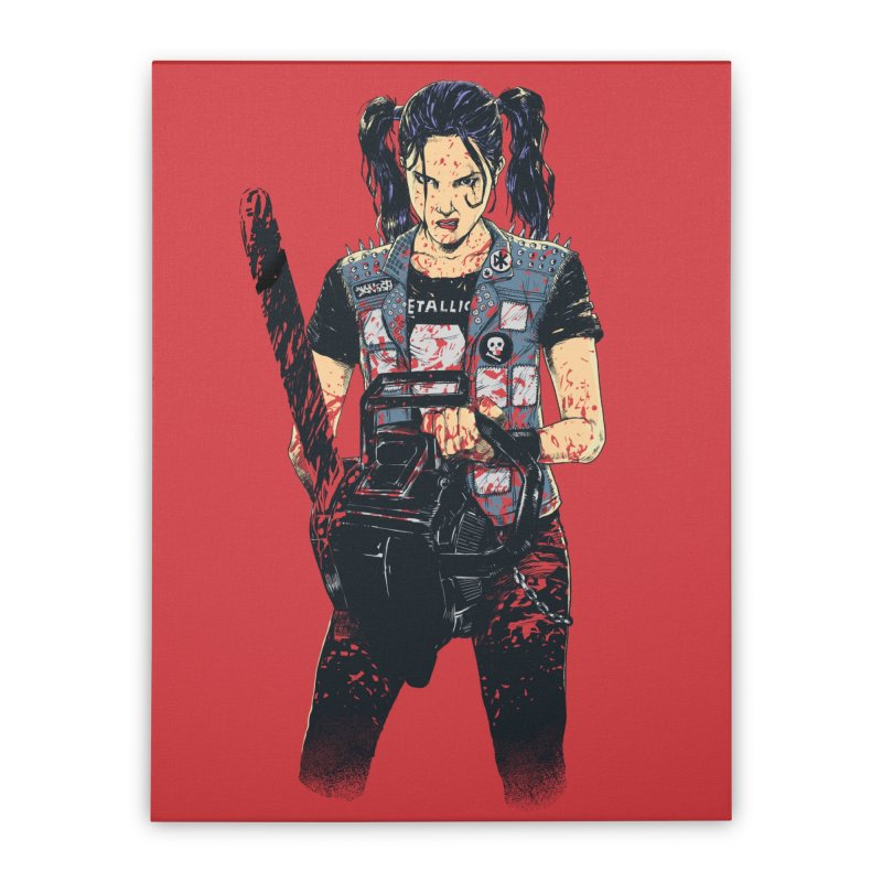 Zombie Slayer Home Stretched Canvas by Threadless Artist Shop