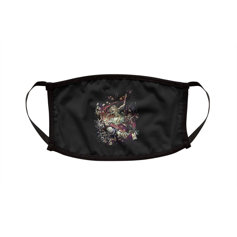 Zombies in Wonderland Accessories Face Mask by Threadless Artist Shop