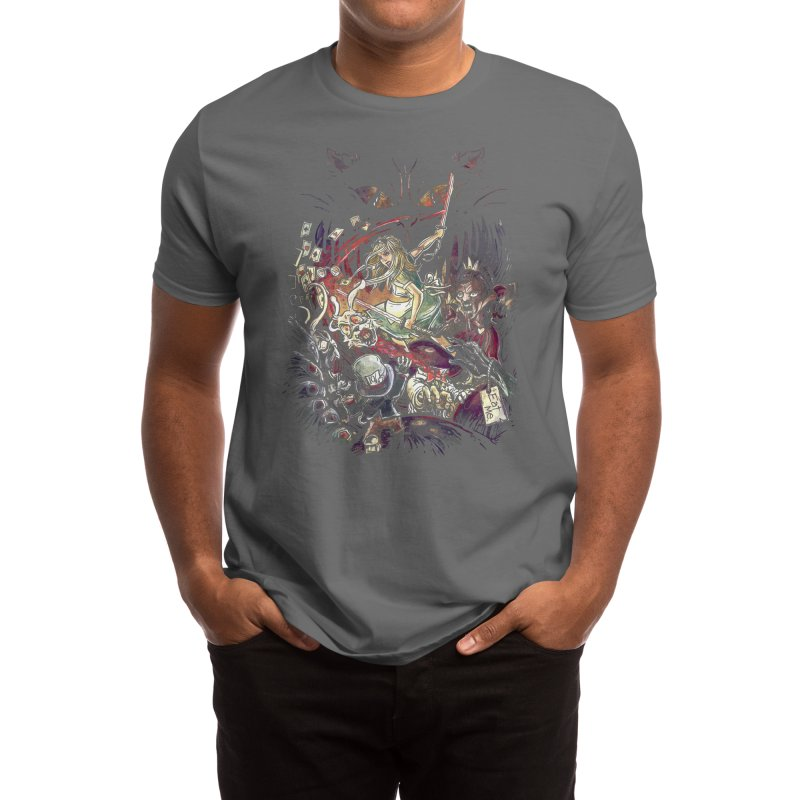 Zombies in Wonderland Men's T-Shirt by Threadless Artist Shop