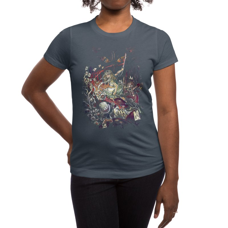 Zombies in Wonderland Women's T-Shirt by Threadless Artist Shop