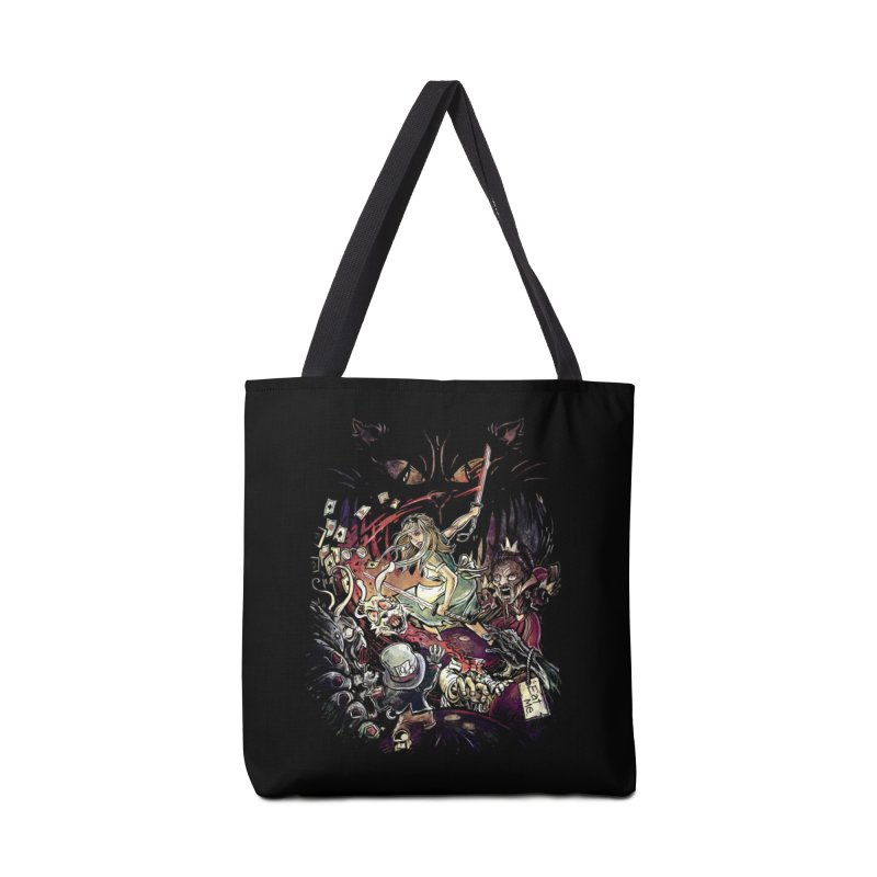 Zombies in Wonderland Accessories Bag by Threadless Artist Shop
