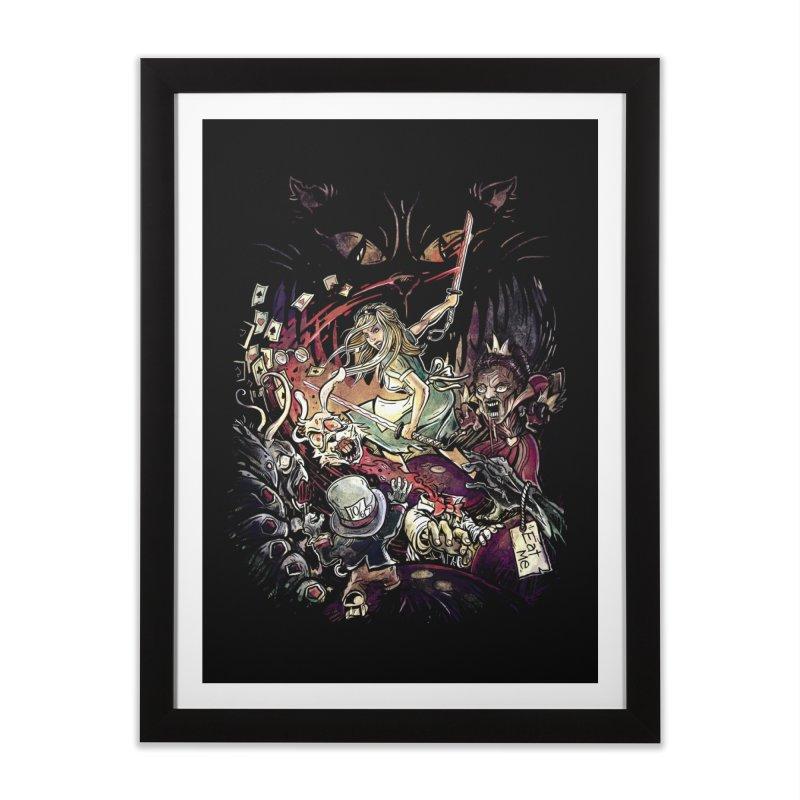 Zombies in Wonderland Home Framed Fine Art Print by Threadless Artist Shop