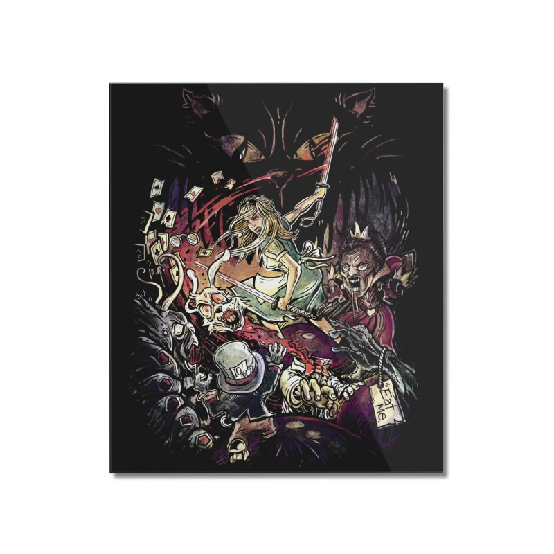Zombies in Wonderland Home Mounted Acrylic Print by Threadless Artist Shop