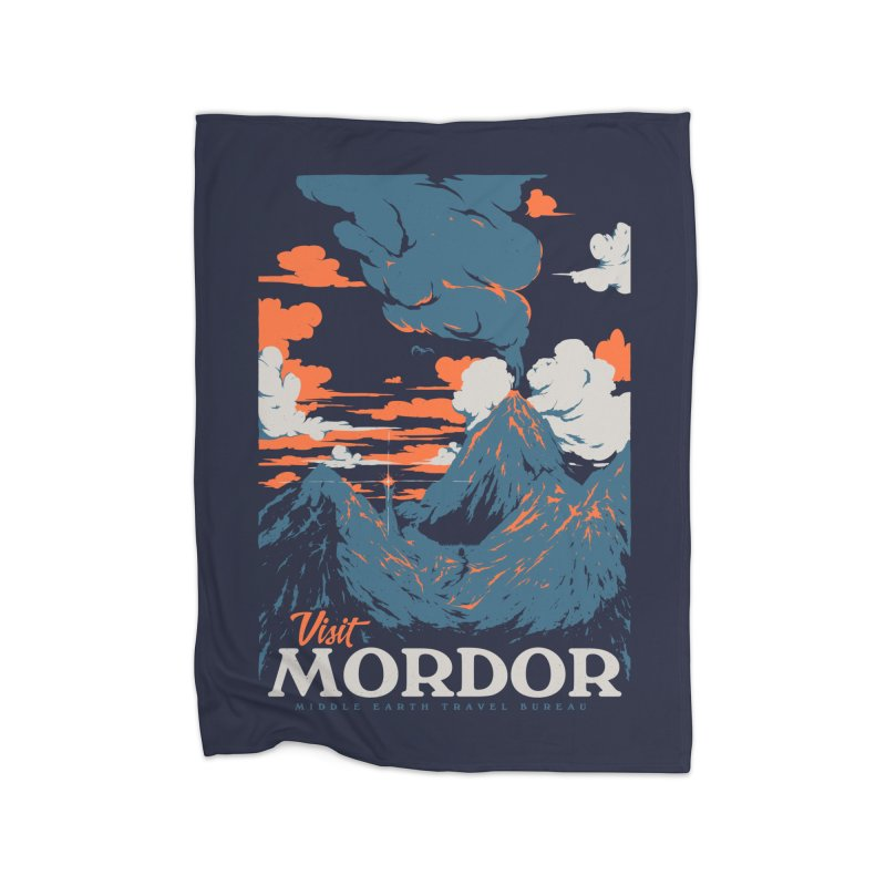 Visit Mordor Home Blanket by Threadless Artist Shop