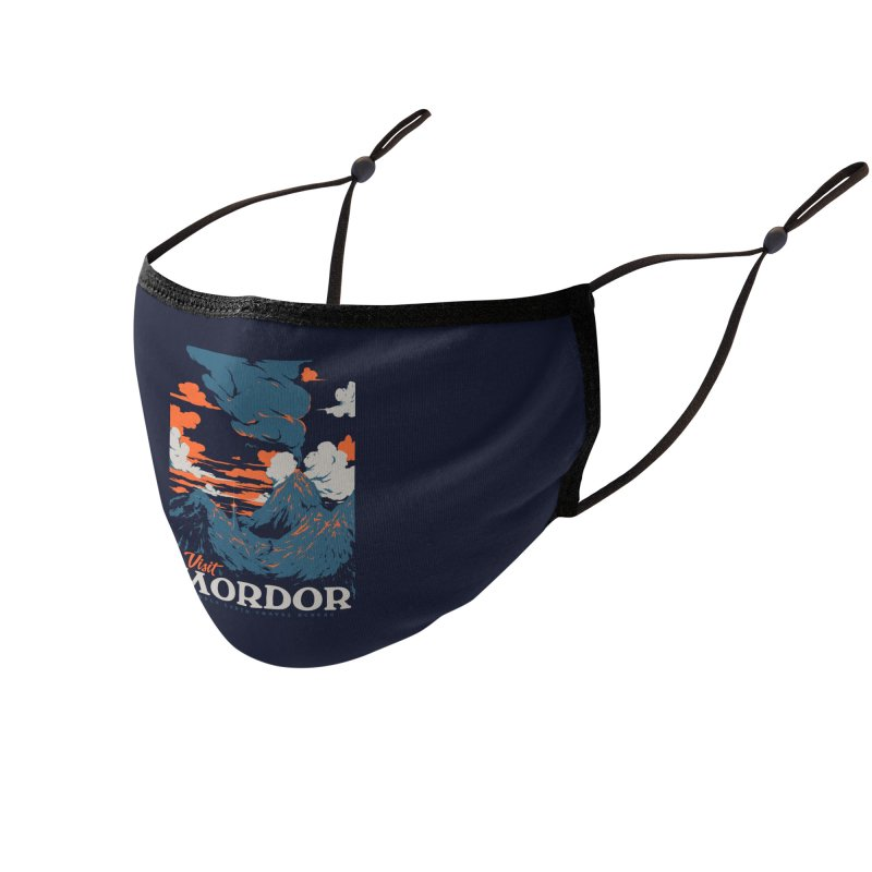 Visit Mordor Accessories Face Mask by Threadless Artist Shop