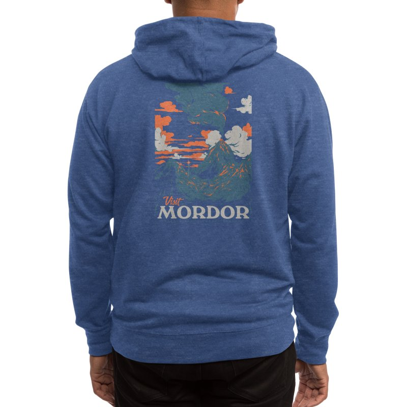 Visit Mordor Men's Zip-Up Hoody by Threadless Artist Shop