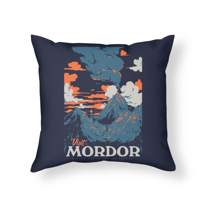 Visit Mordor Home Throw Pillow by Threadless Artist Shop