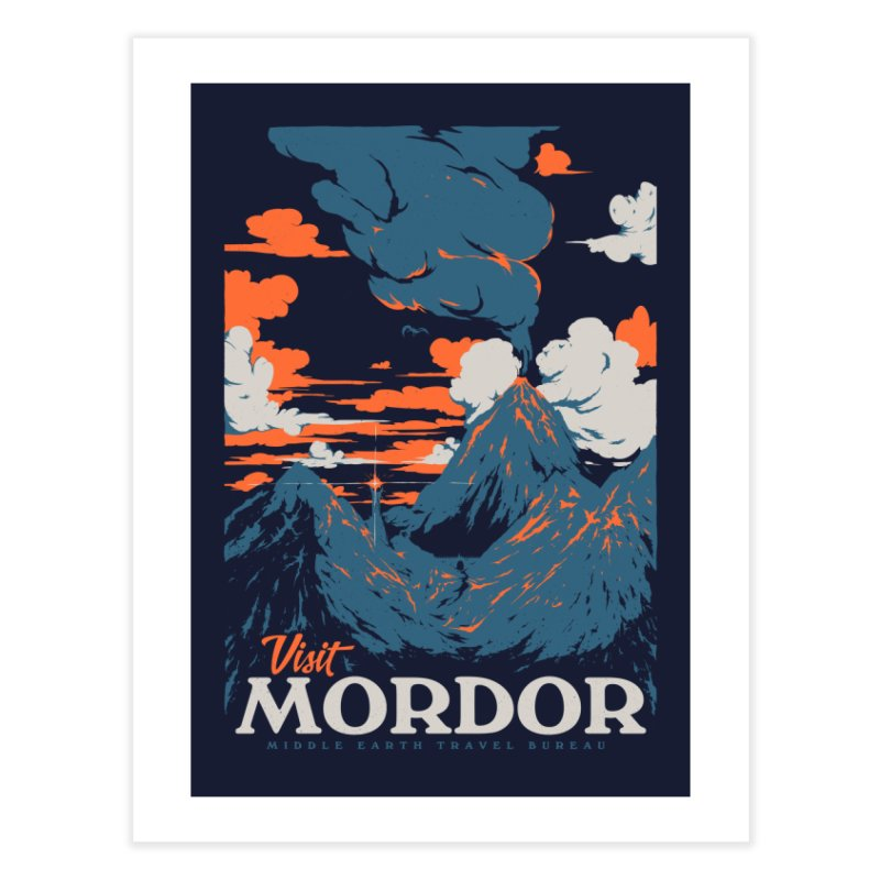 Visit Mordor Home Fine Art Print by Threadless Artist Shop