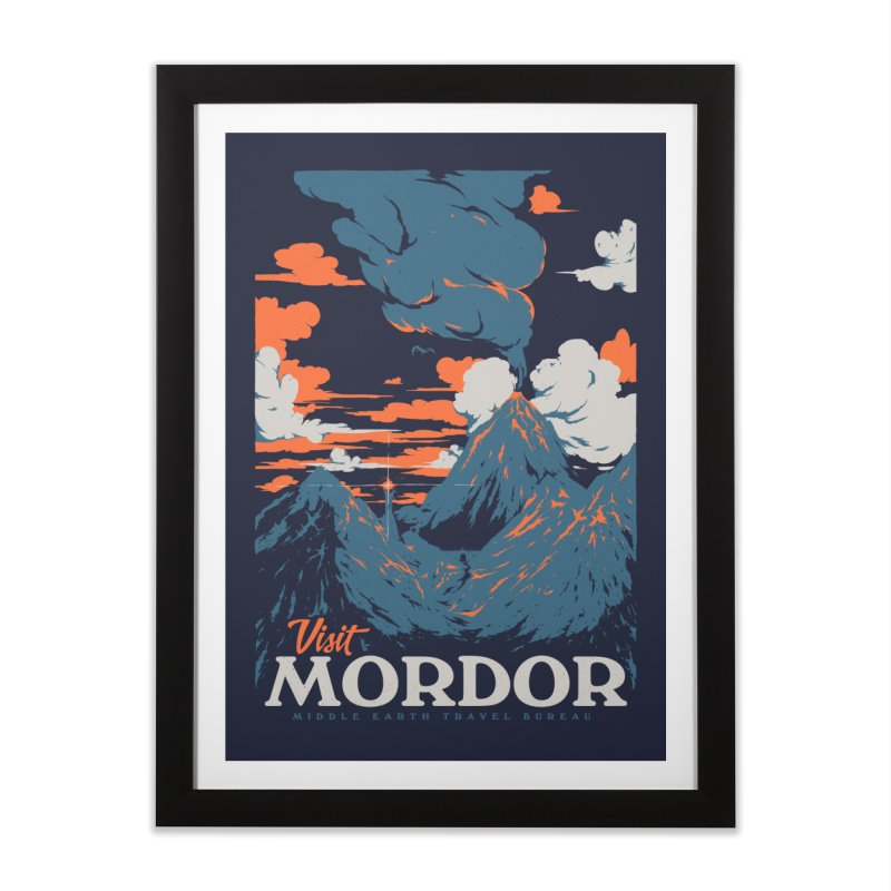 Visit Mordor Home Framed Fine Art Print by Threadless Artist Shop