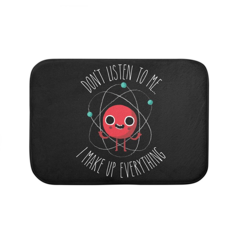Never Trust An Atom Home Bath Mat by Threadless Artist Shop