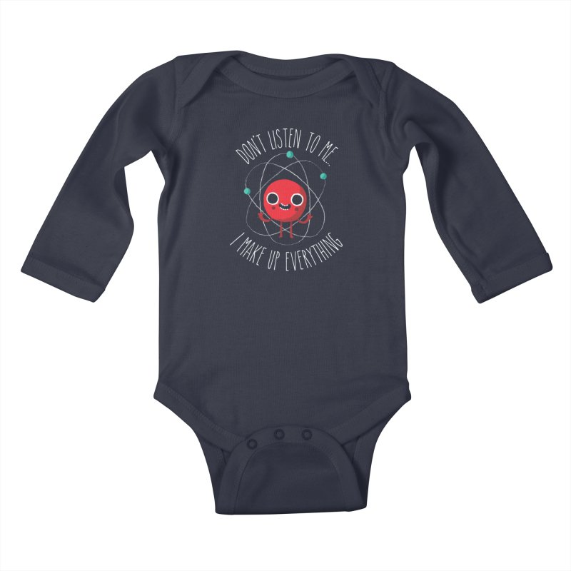 Never Trust An Atom Kids Baby Longsleeve Bodysuit by Threadless Artist Shop