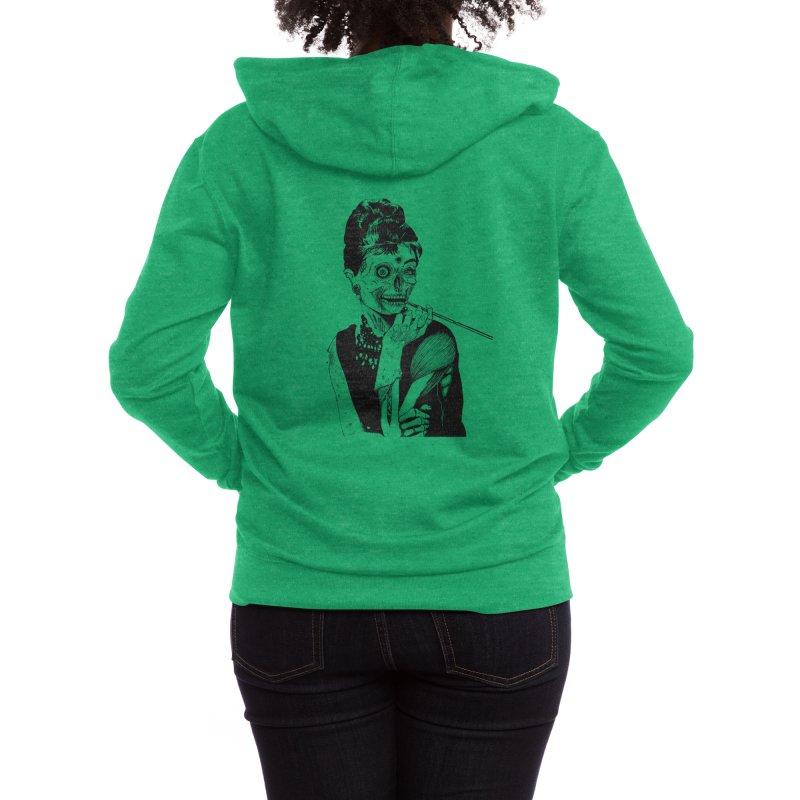 Zombie at Tiffany's Women's Zip-Up Hoody by Threadless Artist Shop