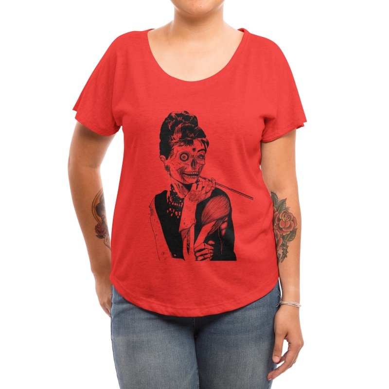 Zombie at Tiffany's Women's Scoop Neck by Threadless Artist Shop