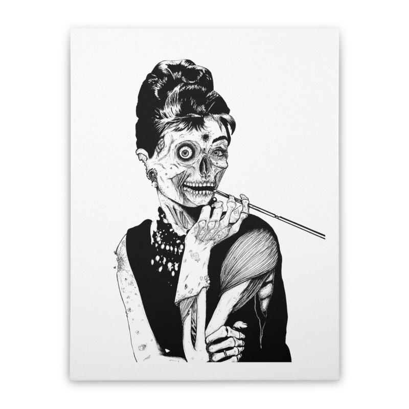Zombie at Tiffany's Home Stretched Canvas by Threadless Artist Shop