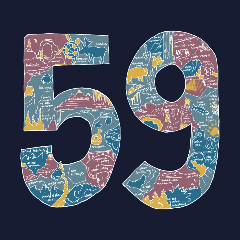 59 National Parks Kids T-Shirt by Threadless Artist Shop