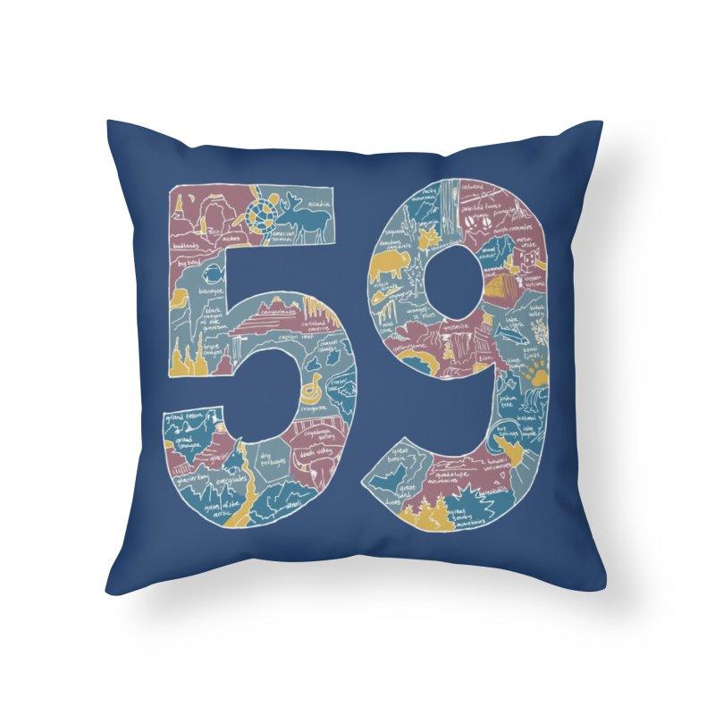 59 National Parks Home Throw Pillow by Threadless Artist Shop