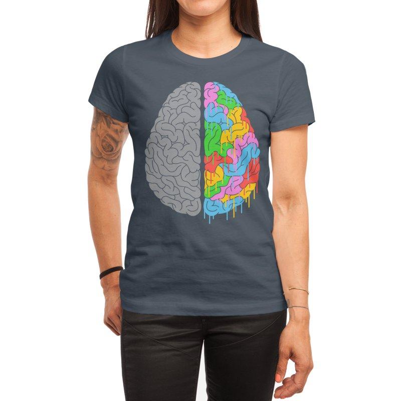 A Brain of Two Halves Women's T-Shirt by Threadless Artist Shop