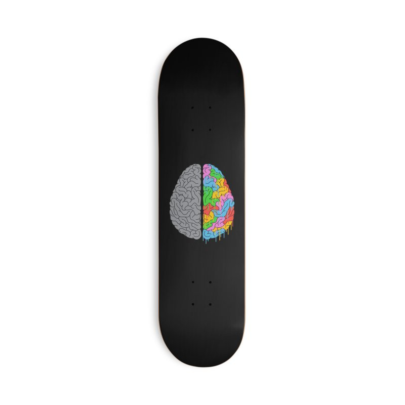 A Brain of Two Halves Accessories Skateboard by Threadless Artist Shop