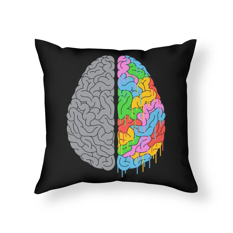 A Brain of Two Halves Home Throw Pillow by Threadless Artist Shop