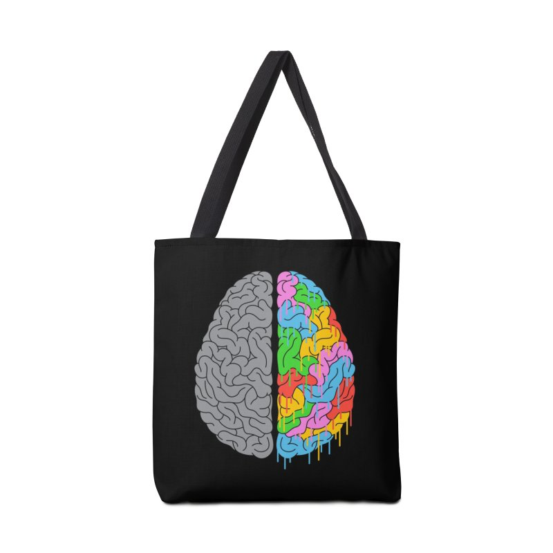 A Brain of Two Halves Accessories Bag by Threadless Artist Shop