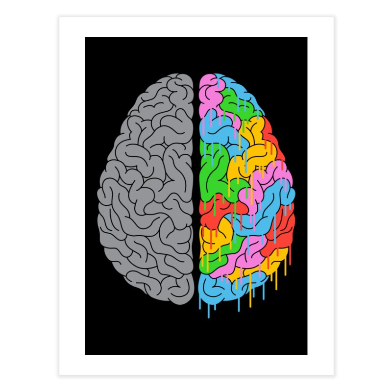 A Brain of Two Halves Home Fine Art Print by Threadless Artist Shop