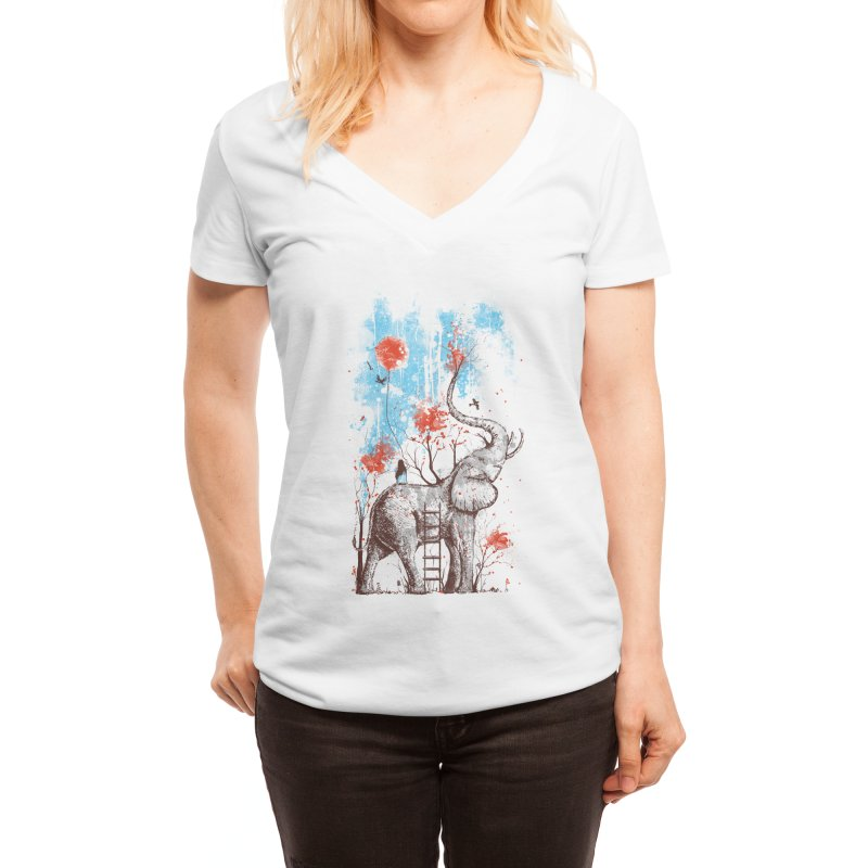 A Happy Place Women's V-Neck by Threadless Artist Shop