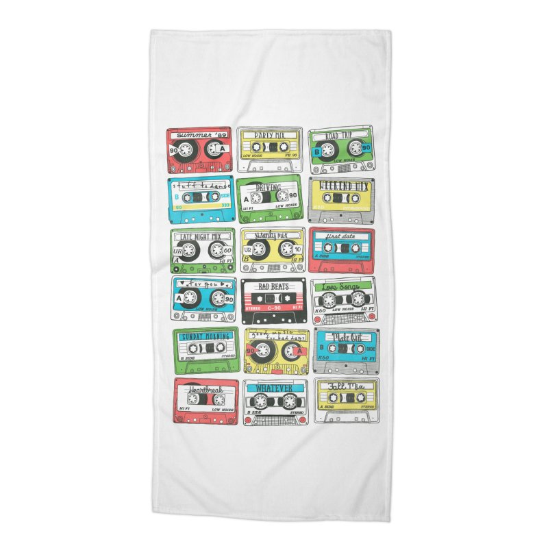 80s Playlist Accessories Beach Towel by Threadless Artist Shop