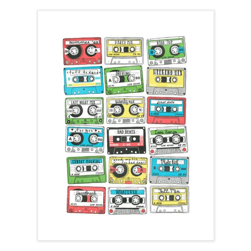 80s Playlist Home Fine Art Print by Threadless Artist Shop
