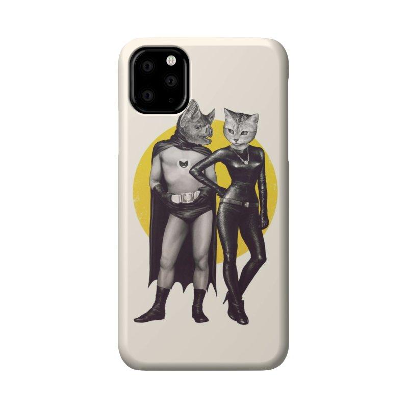A Bat and a Cat Accessories Phone Case by Threadless Artist Shop