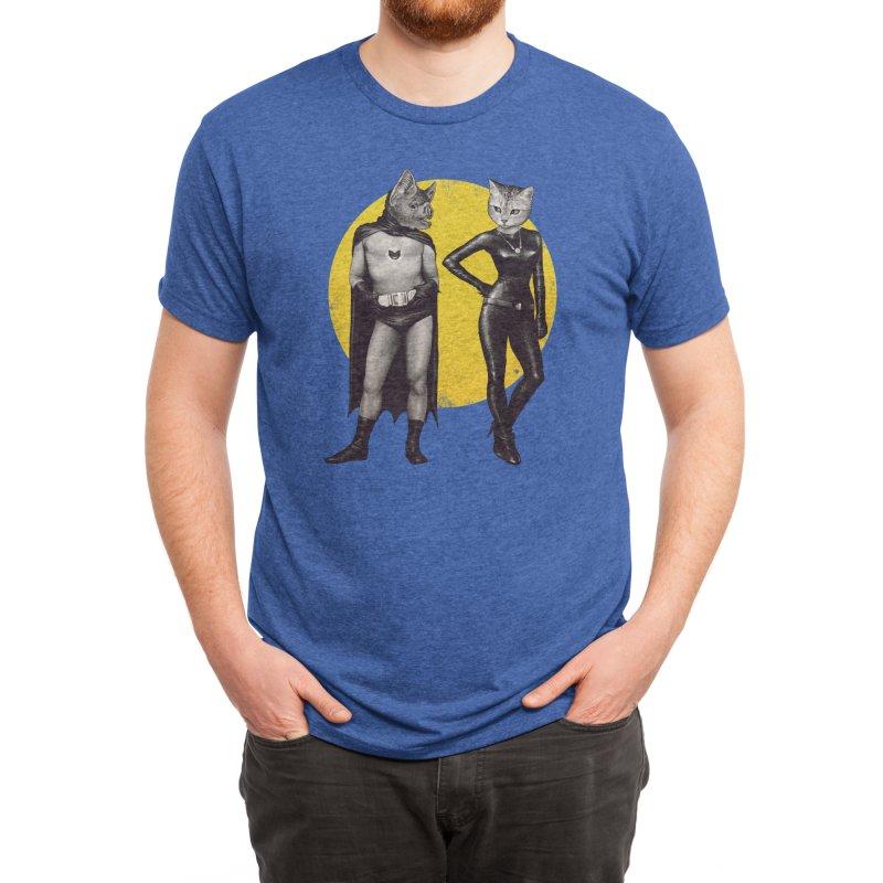 A Bat and a Cat Men's T-Shirt by Threadless Artist Shop