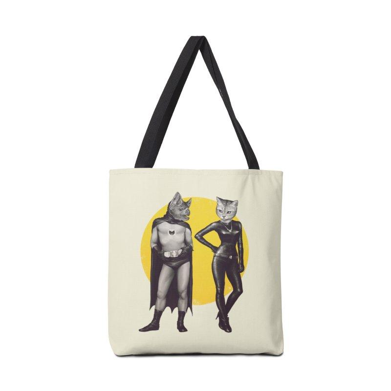 A Bat and a Cat Accessories Bag by Threadless Artist Shop