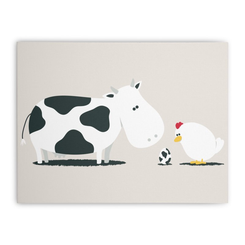 A Birth Day Home Stretched Canvas by Threadless Artist Shop