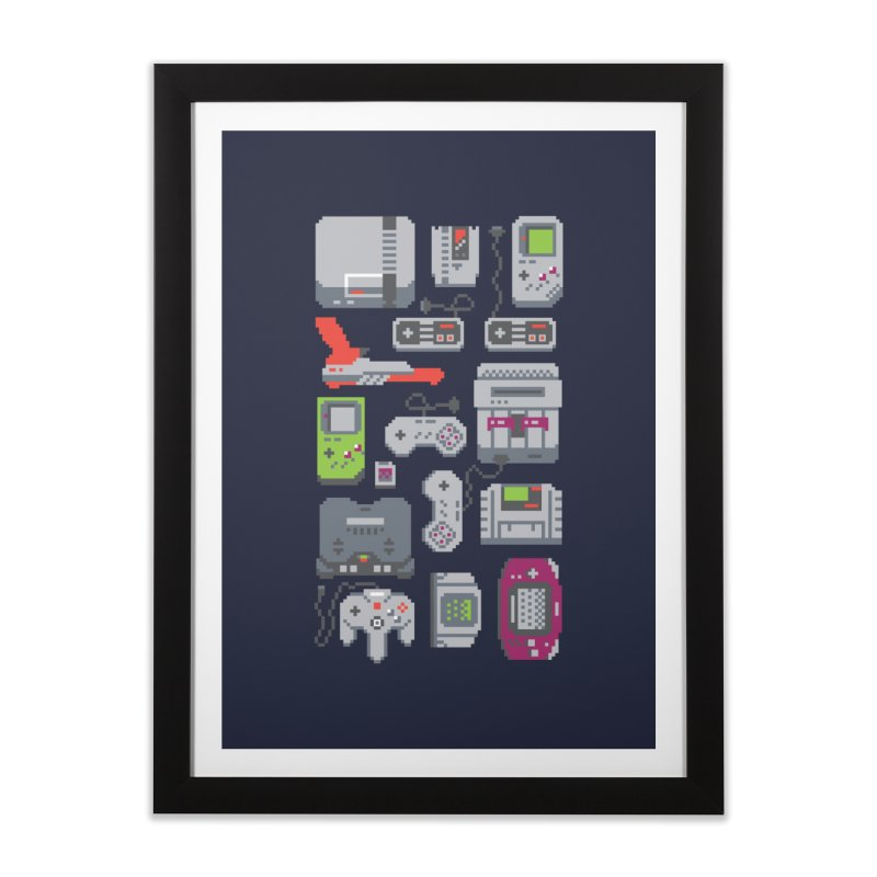 A Pixel of My Childhood Home Framed Fine Art Print by Threadless Artist Shop