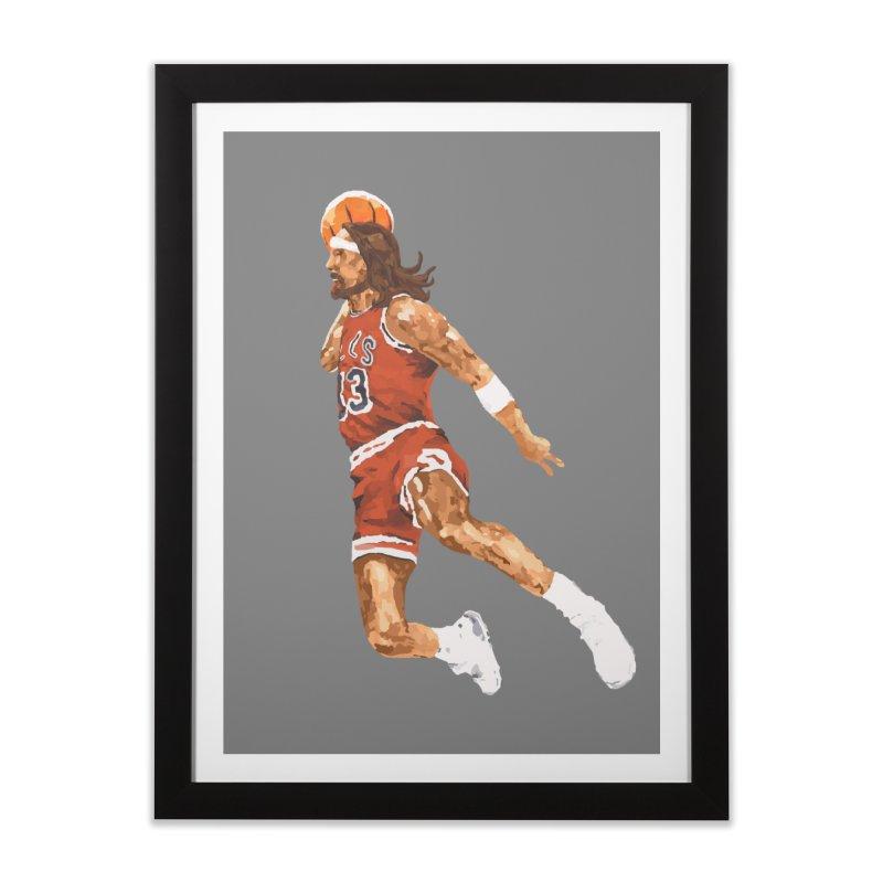 Air Jesus Home Framed Fine Art Print by Threadless Artist Shop