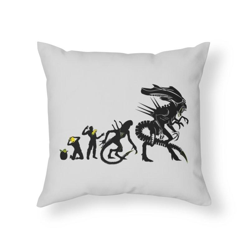 Alien Evolution Home Throw Pillow by Threadless Artist Shop