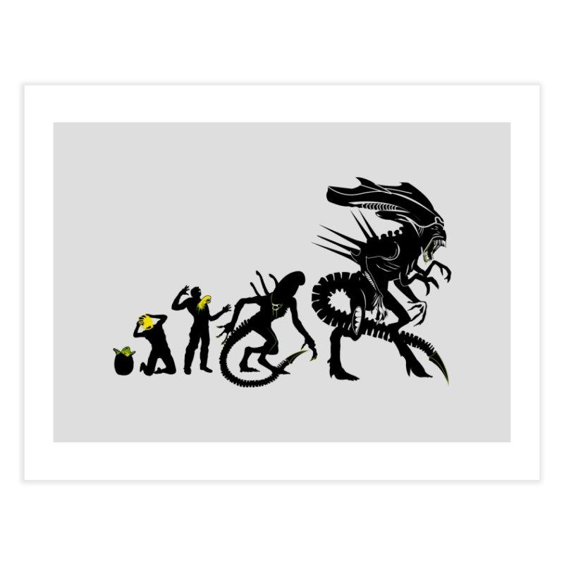 Alien Evolution Home Fine Art Print by Threadless Artist Shop