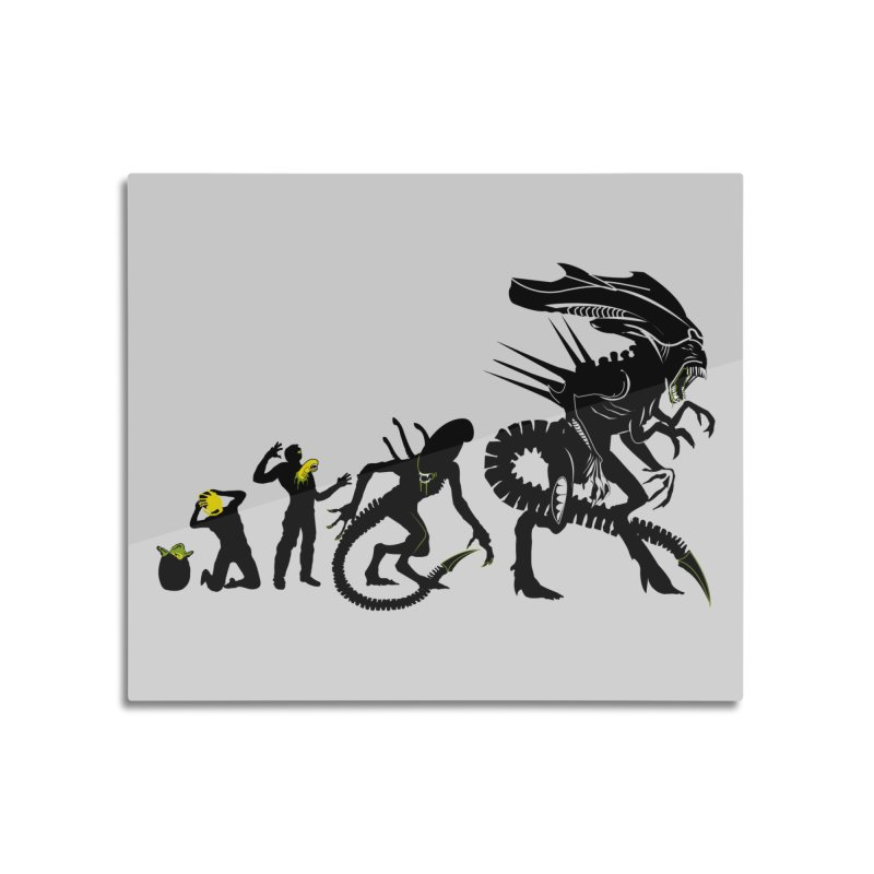 Alien Evolution Home Mounted Acrylic Print by Threadless Artist Shop