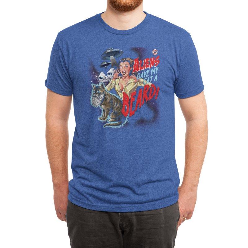 Aliens Gave My Cat a Beard! Men's T-Shirt by Threadless Artist Shop