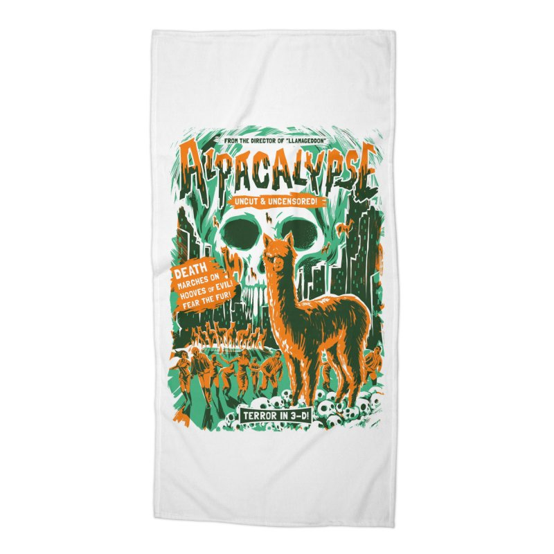 Alpacalypse! Accessories Beach Towel by Threadless Artist Shop