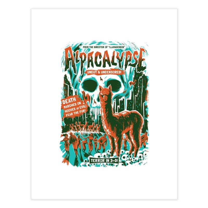 Alpacalypse! Home Fine Art Print by Threadless Artist Shop