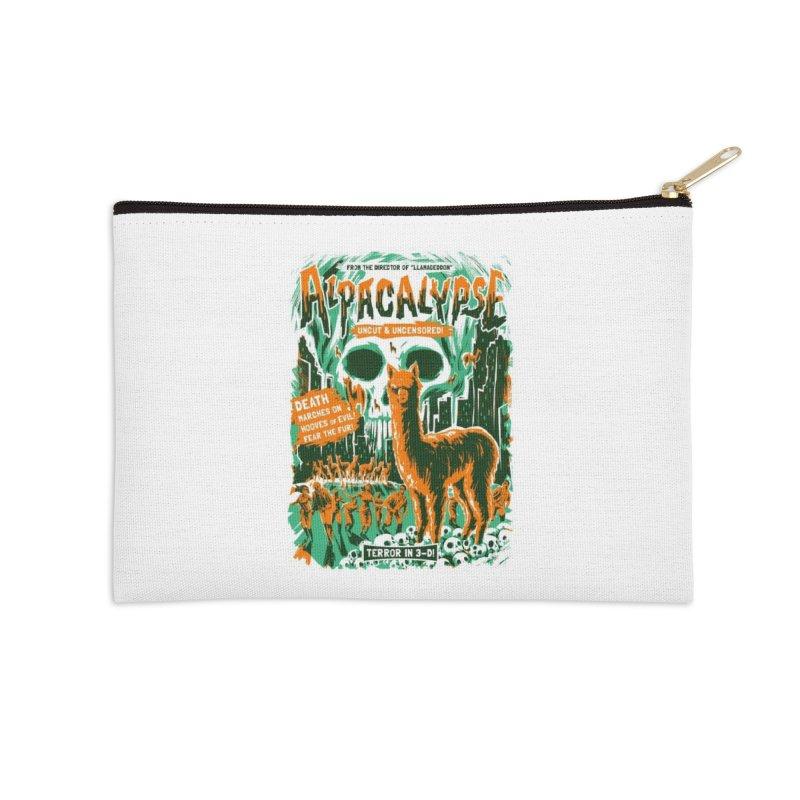Alpacalypse! Accessories Zip Pouch by Threadless Artist Shop