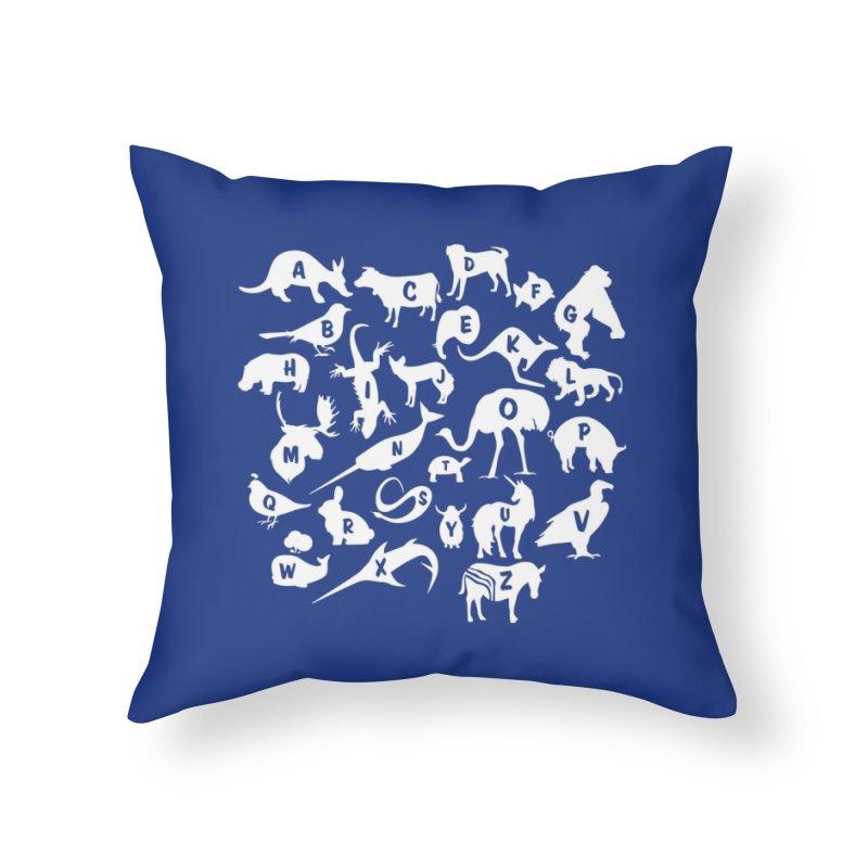 Alphabet Zoo Home Throw Pillow by Threadless Artist Shop