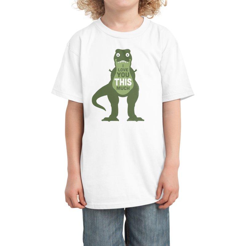Amourosaurus Kids T-Shirt by Threadless Artist Shop